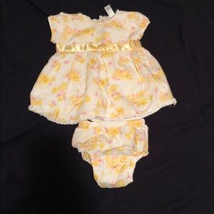 Newborn floral dress with diaper coverup